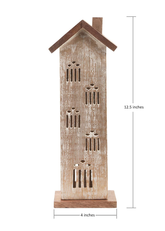 Design 9 storeindya Wooden Incense Cone Tower Burner Stand Holder Ash Catcher