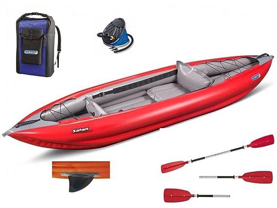 gumotex - Safari 330 rojo canoa hinchable + Remo + Bomba ...