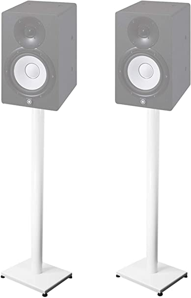 "Pair 10"" Steel White Stands For Yamaha HS10 Studio Monitors: Amazon"