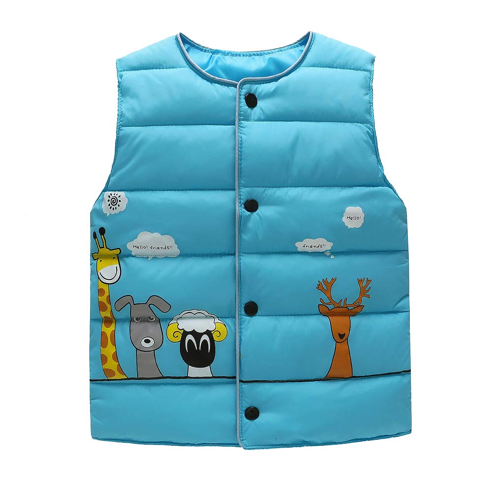 LaoZanA Kids Boys Girls Toddlers Warm Gilets Vest Tops Sleeveless Coat Jackets Outerwear