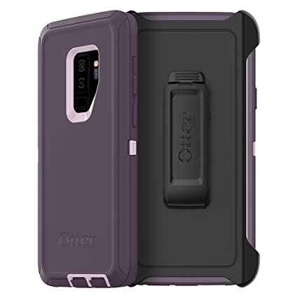OtterBox Defender Series Case for Samsung Galaxy S9+ - Frustration Free Packaging - Purple Nebula (Winsome Orchid/Night Purple)