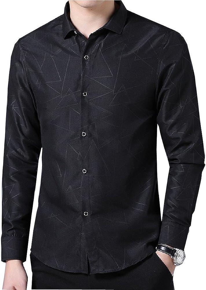 Formal T-Shirt Long Sleeve Men/'s Casual Fit Dress Stylish Luxury Shirt Tops Slim