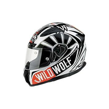 Airoh T600 Wild Wolf - casco integral negro y blanco Talla:XL (61/