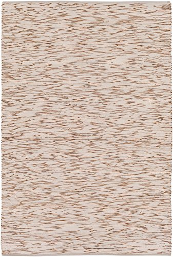 RugPal Solid/Striped Rectangle Area Rug 8'x10' in Oatmeal Color From Alterra Collection