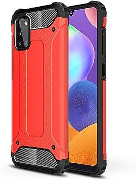ANWEN Para Samsung Galaxy A31 Funda, Robusta Armadura Híbrida TPU + PC [Doble Capa] Carcasa de Protección Hibrida Armadura Funda para Samsung Galaxy A31 Smartphone-Rojo: Amazon.es: Electrónica