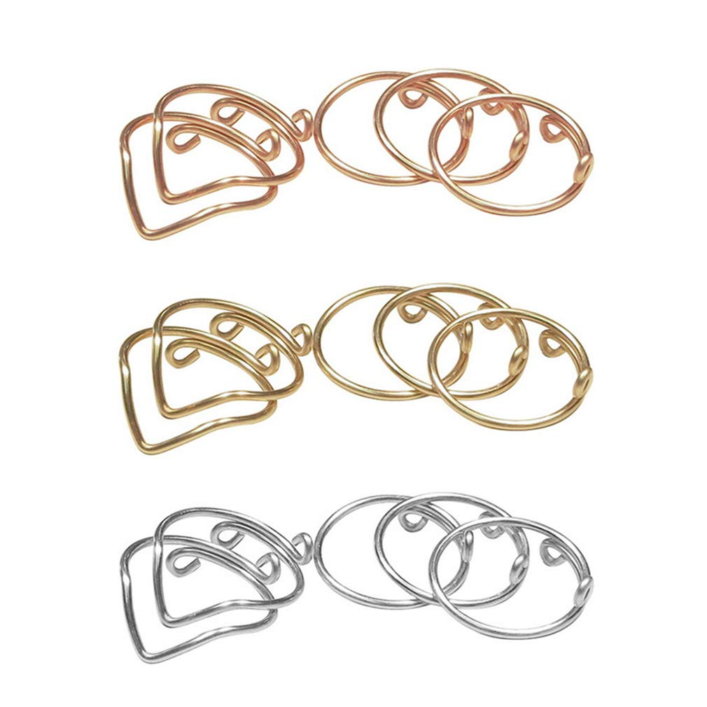 Dolland 5 Pcs V-Shaped Finger Ring Set Joint Ring Tail Ring Simple Ladies Thin Ring for Women Rings Party Jewelry,Silver