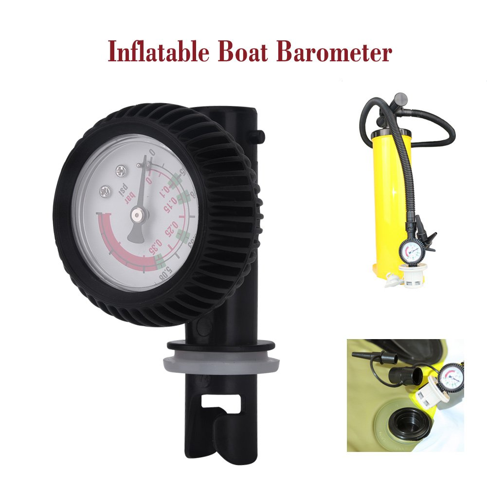 Kayak Barometer Nylon Inflatable Boat Air Pressure Gauge Barometer for Kayak Raft