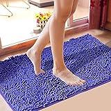 Bedroom Kitchen Living Room Rug Microfiber Bathroom Door Non-slip Floor Mats (50*80cm)
