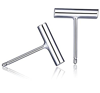 iszie jewellery sterling silver simple small plain bar stud fashion earrings H3QEPyv