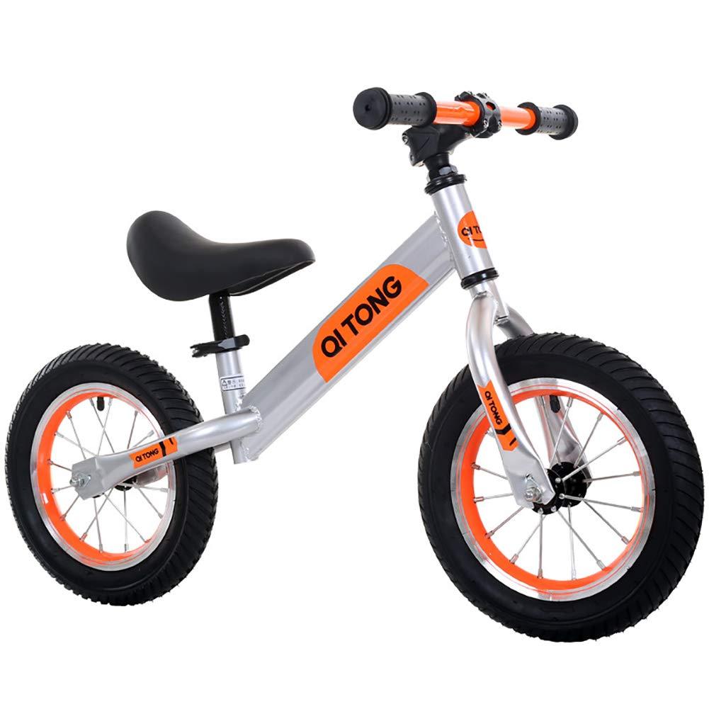 子供 バランスカー 12インチ ペダルなし スライディングカー 赤ちゃん スライディング ダブルホイール 自転車  Orange B07LBW58D1