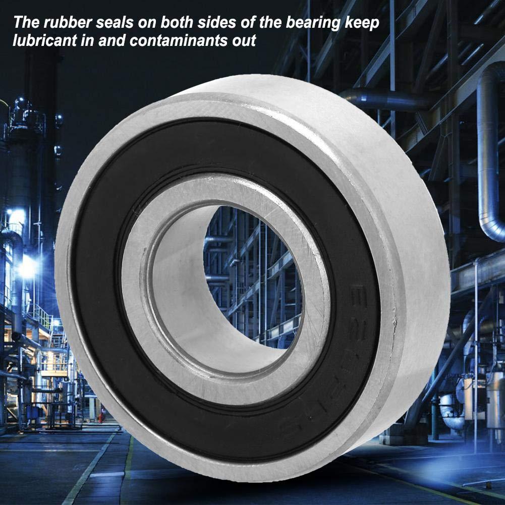 10pcs 6202-2rs 15x35x11mm Deep Groove Steel Geometry Ball Bearing Double-Side Rubber Sealed Single Column Bearing Ball Bearing