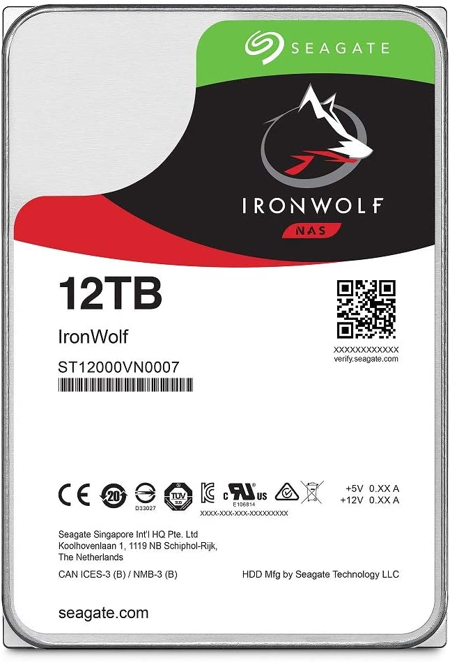 Seagate Ironwolf St12000vn0007 Hard Disk Drive Nas 12tb Computers Accessories