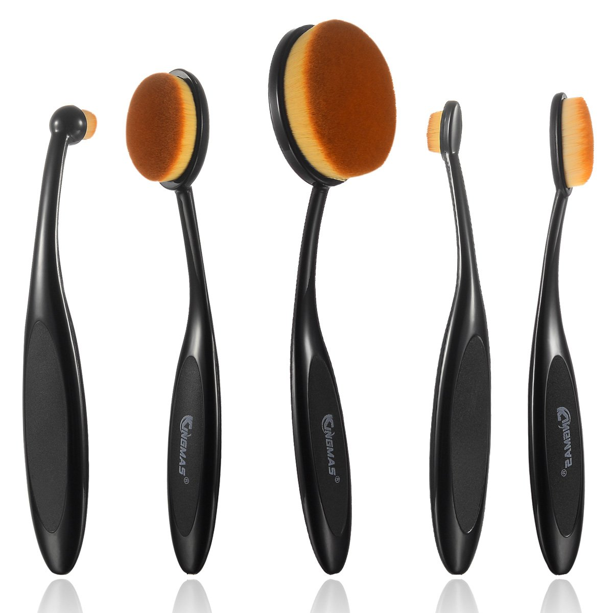 Kingmas(R) 5Pcs Professional Soft Oval Makeup Brushes Powder Foundation Eyesh.. 12