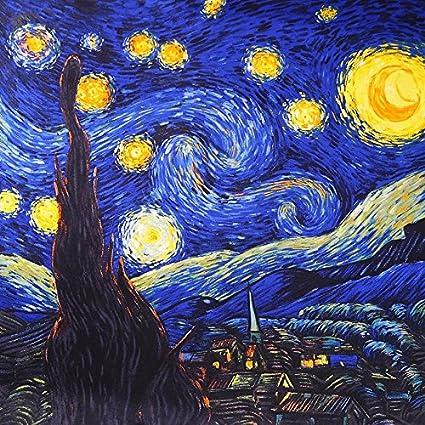 Foulard carré de soie 90cm - van Gogh - La Nuit étoilée  Amazon.fr   Vêtements et accessoires d8b0f73b6be