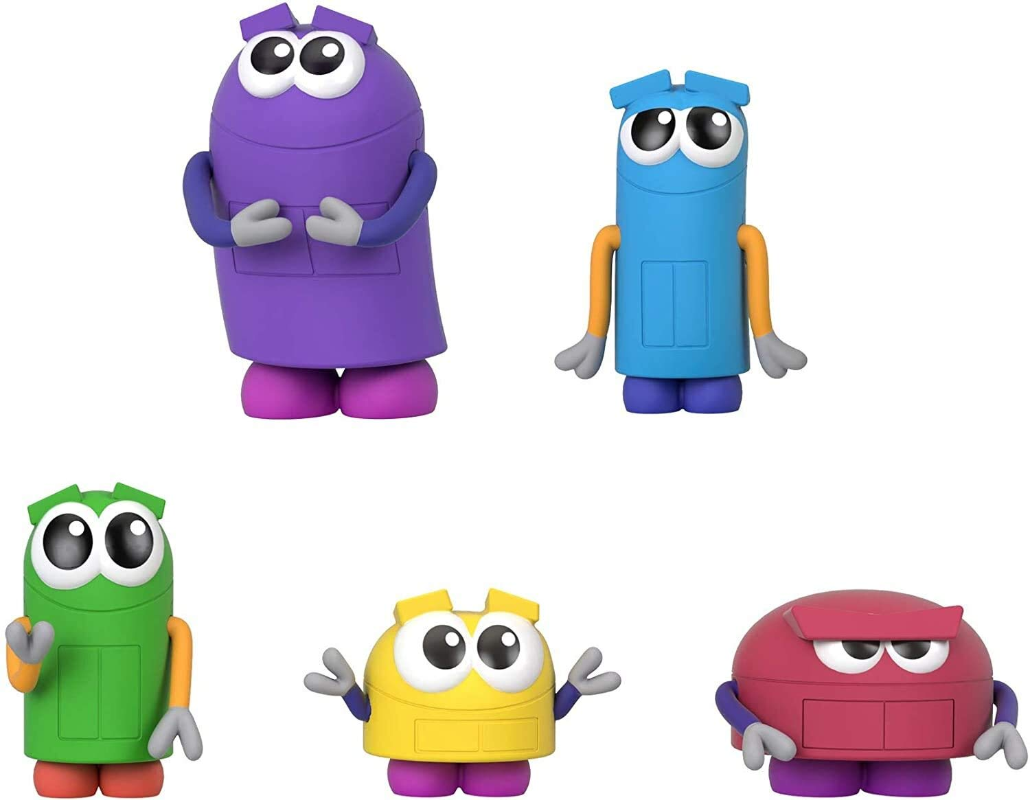 Fisher-Price StoryBots Figure Pack, set of 5 figures featuring characters from the Netflix series for preschool kids ages 3 years and older
