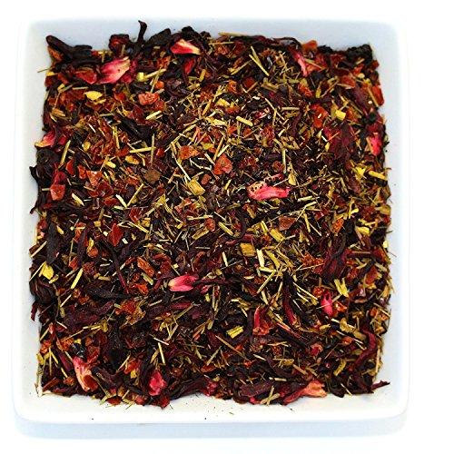Tealyra - Caribbean Punch - Hibiscus - Lemongrass - Rosehips - Herbal Fruity Karkade Loose Leaf Tea - Vitamines Rich - Hot and Iced tea - Caffeine-Free - 110g (4-ounce) Mild Sweet Tea