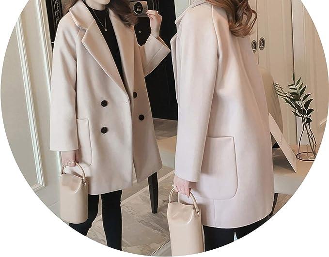 Amazon.com: Chaqueta de lana para mujer, abrigo de invierno ...