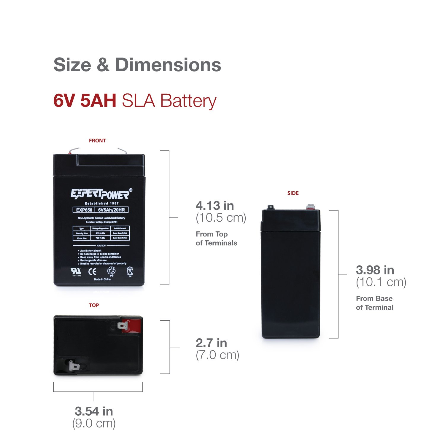 6v 5ah Sla Rechargeable Battery Electronics For Power Supply We Can Use Batteries Or Regulated