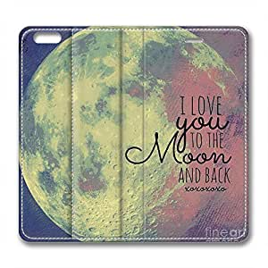 iCustomonline I Love You to the Moon and Back Ultra Slim Leather Case for iPhone 6(for 4.7 inch)