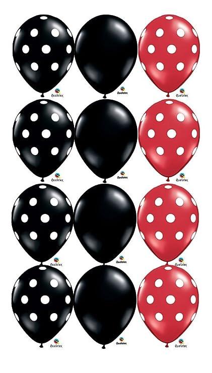 Amazon.com: Negro, Color Rojo y Blanco Dot Ladybug Látex ...