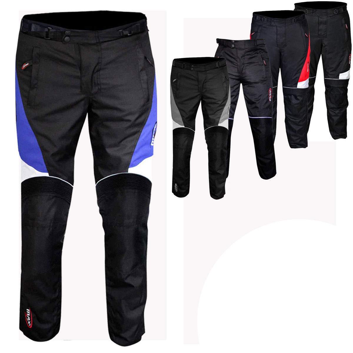 Max5 - Pantalones impermeables para motocicleta (polié ster, tejido Cordura) MKP-1450