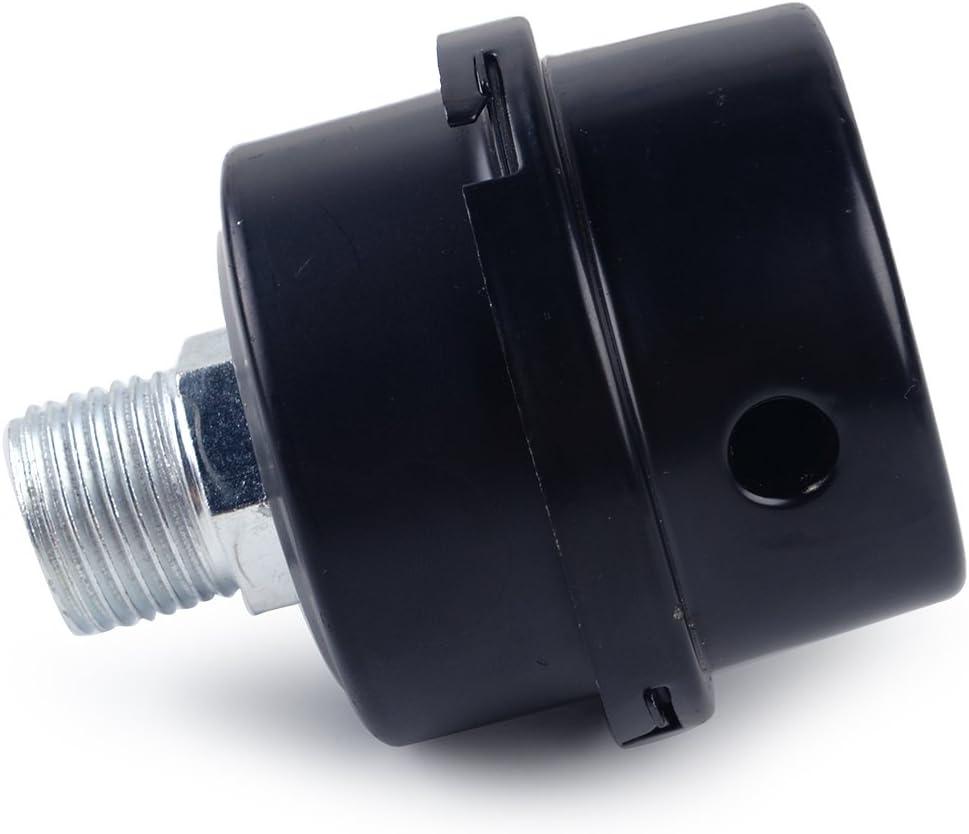 Filtre /à air de compresseur m/étallique /à filetage 3//8 NPT 16mm avec remplacement de l/él/ément en papier pliss/é.
