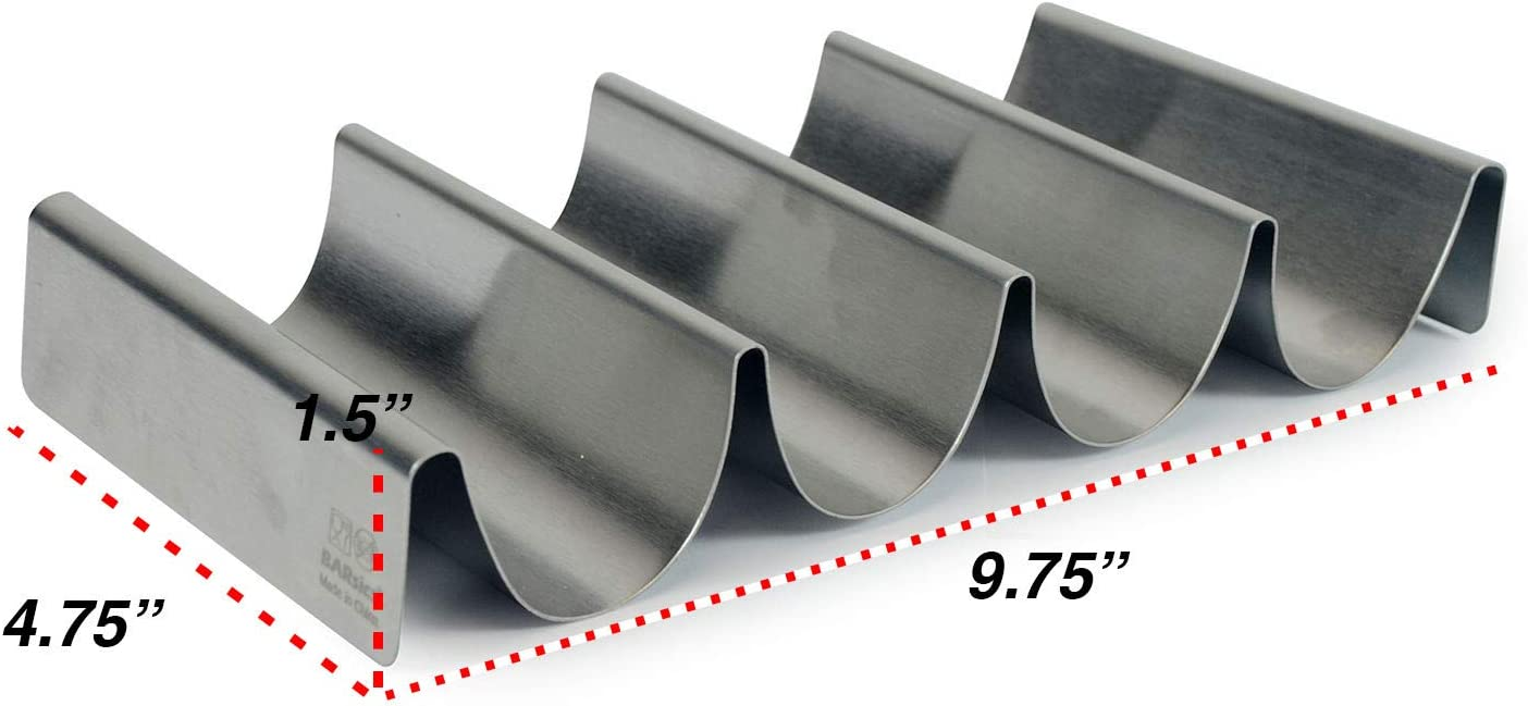 Stainless/Steel/Taco/Tray/Holder/Set/ 3-Pack