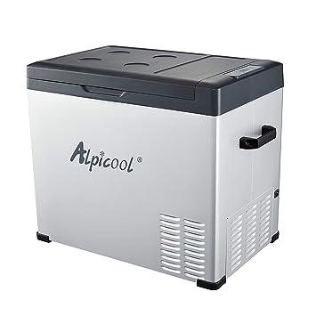 ZZKK Refrigerador Portable, Coche, Turck, RV, Barco, Mini congelador del refrigerador