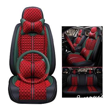 RED /& BLACK CLOTH RENAULT MODUS 10 /> FULL CAR SEAT COVER SET