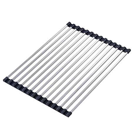 Wgwioo Roll-up Over Sink Dish Drying Rack, escurridor de ...