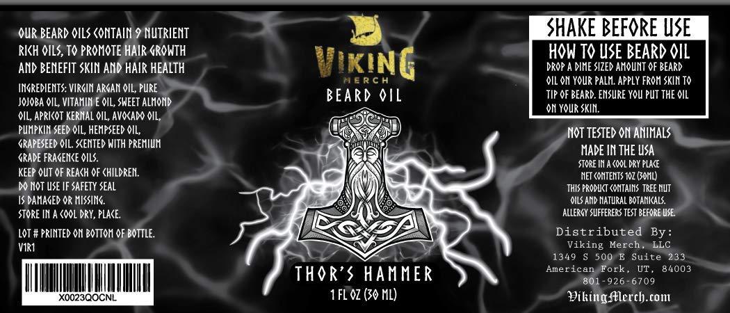4d3ae7f4 Amazon.com : Viking Merch Beard Oil Conditioner - All Natural ...