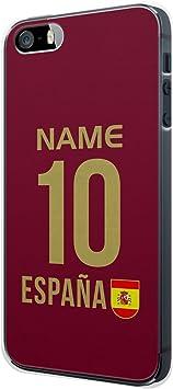 España Nombre Personalizado + Número Camiseta iPhone 4/4S Funda Cover Case Carcasa Espana Spain: Amazon.es: Electrónica