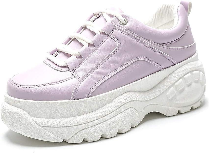 Zapatillas Deportivas de Mujer - Zapatillas Mujer Running Casual Yoga CalzadoParte Inferior del neumático Brillante, Resistente al Desgaste, Zapatos Blancos Lavanda 36: Amazon.es: Zapatos y complementos