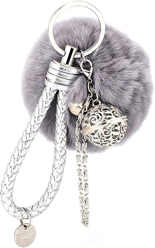 South Sea Pearl and Moonstone ANGEL clip on key ring// bag charm gift.