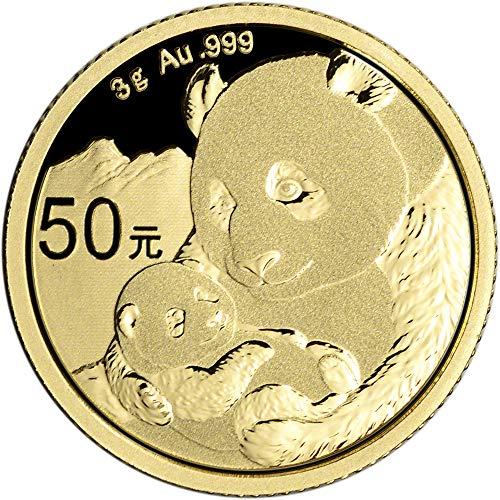 2019 CN China Gold Panda (3 g) 50 Yuan Brilliant Uncirculated China -