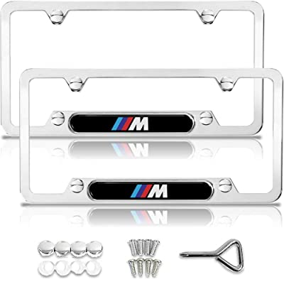 BMW License Plate Frame, BMW M License Plate Frame, BMW Accessories, BMW Plate Frame, Chrome License Plate Frame, License Plate Frame BMW, License Plate Frame Chrome, Metal License Plate Frame: Automotive