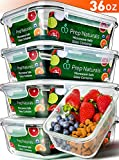 #8: [5-Pack,36oz] Glass Meal Prep Containers Glass - Food Storage Containers with Lids - Food Containers Food Prep Containers Glass Storage Containers with lids Glass Containers Glass Lunch Containers