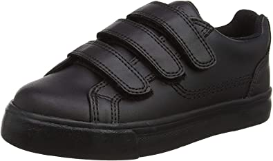 Kickers Tovni Trip Black Leather Youth