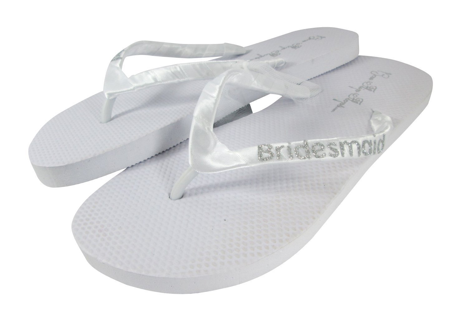 ac79fa8c8 Amazon.com  Bridesmaid Flip Flops Wedding Bling Gift Shower Bridal Bride  Glitter Satin Flip Flops Gold Black Beach Shoes  Handmade