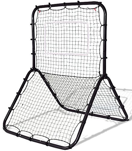 K&A Company Training Baseball Net Softball Rebounder Throw Pitch Back Practice Pitchback Rebound Youth Pitching Throwing Frame New by K&A Company