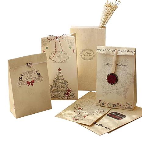 Emorias 10 Pcs Papel de Regalo Navidad Retro Hornear ...