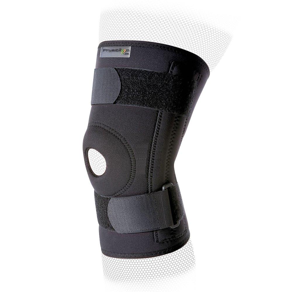 Physioroom Stabilising Knee Support - Cómodo, sin bisagras,ajustable,sin látex,carretón,lesiones del ligamento de la rodilla colaterales,brace,mejora la estabilidad,tranquilidad,deportes,cómodo,almohadillas blandas de la rótula,la protecci PhysioRoom.com H