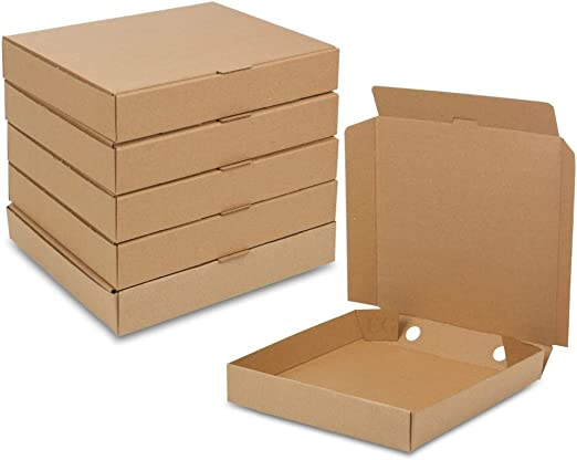Cartón de sola pared caja de pizza para envíos postales vestidos Camisas Ropa de almacenamiento: Amazon.es: Hogar
