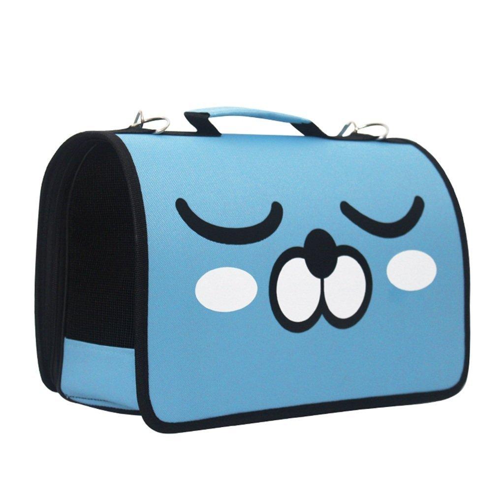blueE L blueE L Fashion Cat Bag Pet Bag Out Bag Shoulder Bag Bust Dog Bag Cat Bag Carrying Bag Travel Set (color   bluee, Size   L)