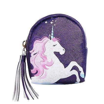 RQWY Monedero Mujer Monederos Unicornio Diseño Impreso ...