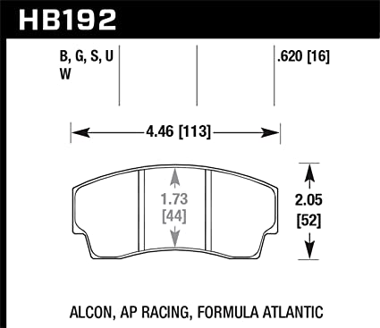 Amazon com: Hawk Performance HB192W 620 AP Racing Alcon