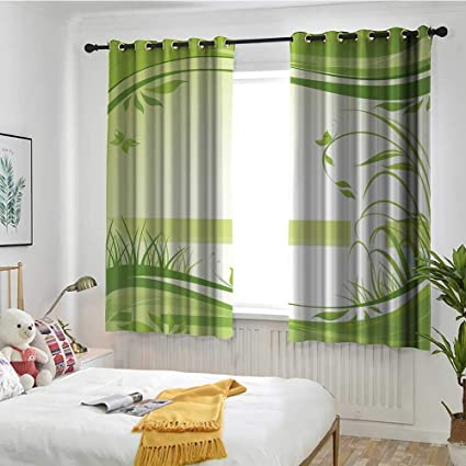 Amazon.com: MaryMunger Green Living Room/Bedroom Window ...