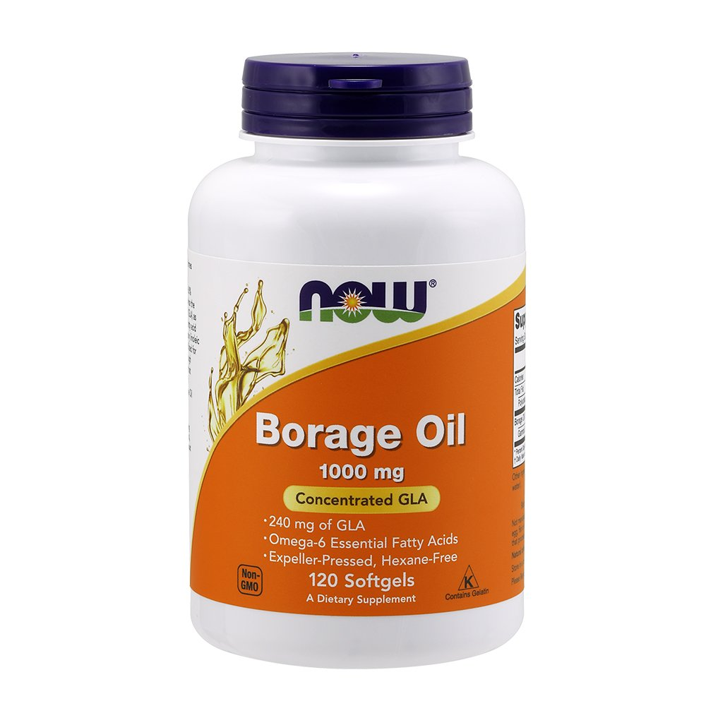 Now Supplements, Borage Oil 1000 mg with 240mg of GLA (Gamma Linolenic Acid), 120 Softgels by NOW Foods