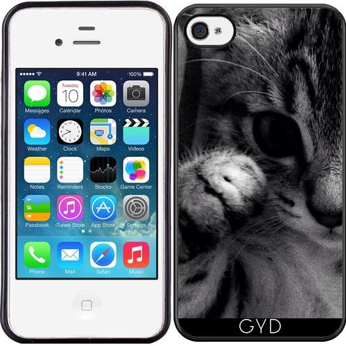 Coque Silicone pour Iphone 4/4S - Petits Ja Chat by Youlia and Tayfun