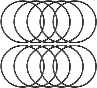 10 Stück Black Rubber O Ring Oil Seal Dichtungen Dichtungen 44 X 41 X 1 5 Mm De Baumarkt